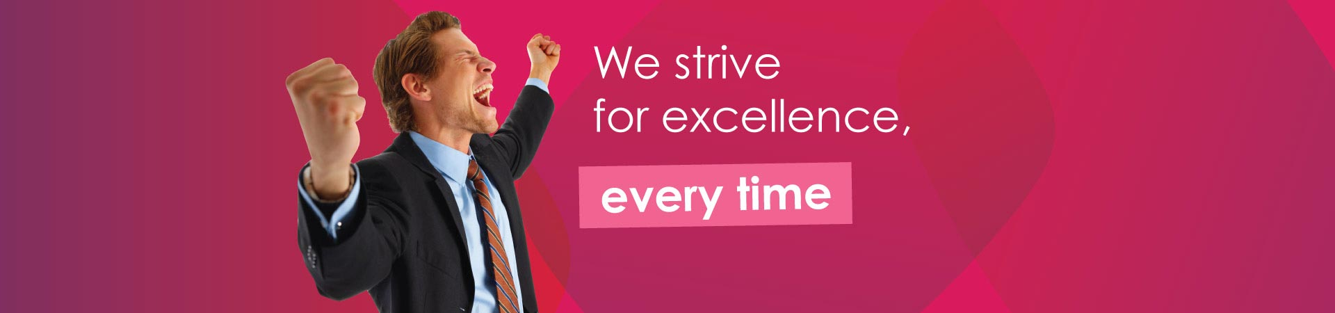 Banner - Strive for excellence